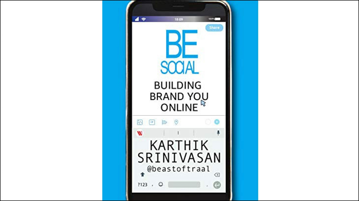 Karthik Srinivasan's new book focuses on personal brand building...