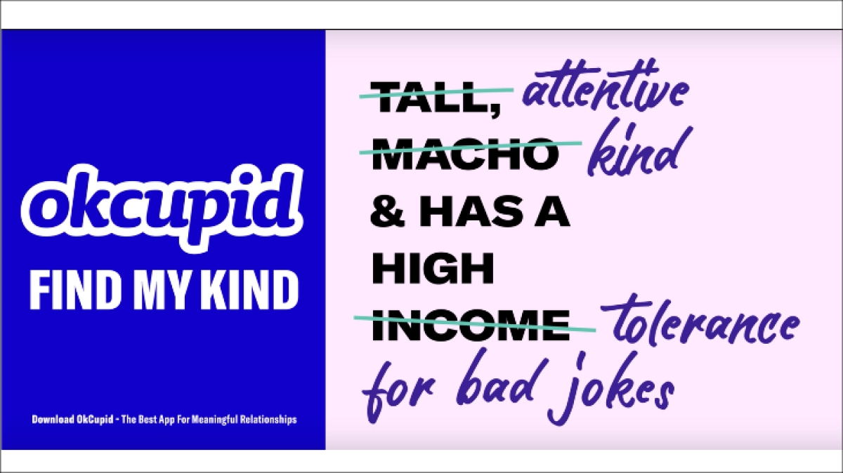 Is OkCupid's new ad taking a swipe at Tinder?