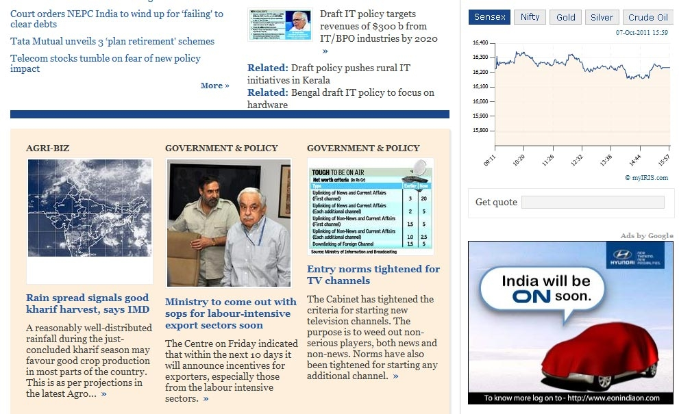 Hyundai Eon: India on line