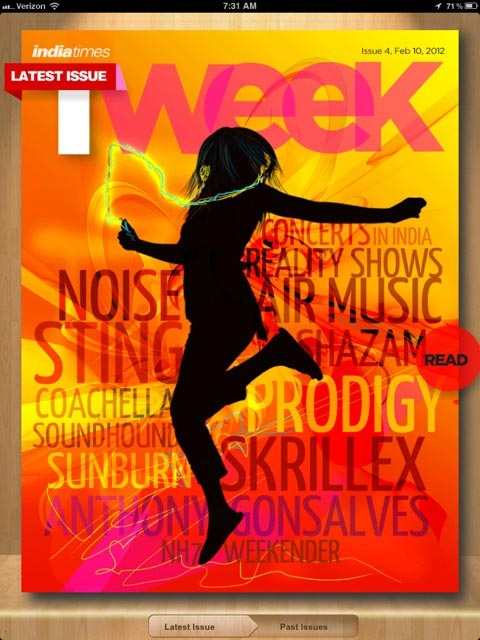 India's first tablet magazine, Tweek