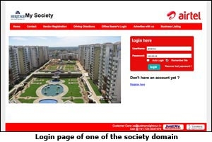My Society login page