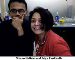 Steven Mathias and Priya Pardiwalla