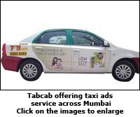Tech cab advertising