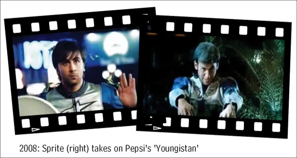 Sprite takes on pepsi Youngistan