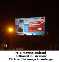 MTS moving android billboard in Lucknow