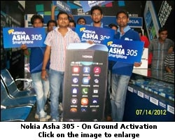 Nokia launched Nokia Asha 305 through an on-ground activation