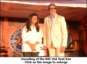 Unveiling of the KBC Hot Seat Van