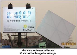 The Tata Indicom billboard