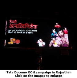 Tata Docomo OOH campaign in Rajasthan