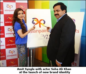 Amit Syngle with actor Soha Ali Khan at the launch of new brand identity