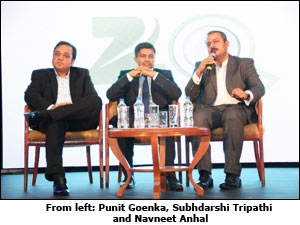 From left: Punit Goenka, Subhdarshi Tripathi and Navneet Anhal