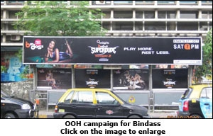 OOH campaign for Bindass