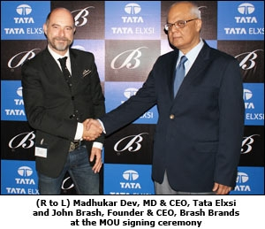 (R to L) Mr. Madhukar Dev, MD & CEO, Tata Elxsi and Mr. John Brash, Founder & CEO, Brash Brands at the MOU signing ceremony