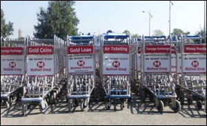 Muthoot Airport Trolley Branding