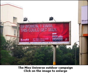 The Miss Universe outdoor campaign