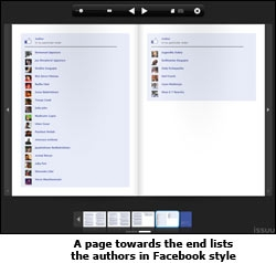 A page towards the end lists the authors in Facebook style