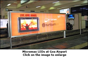 Micromax LEDs at Goa Airport