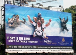 The outdoor ad for Aamby Valley