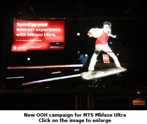New OOH campaign for MTS Mblaze Ultra