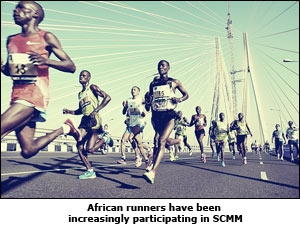 African runners have been increasingly participating in SCMM