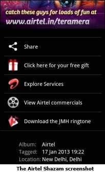 The Airtel Shazam screenshot