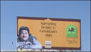 The OOH campaign for Greenlam