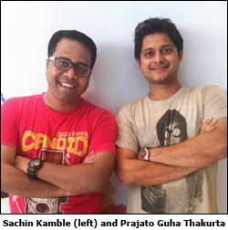 Sachin Kamble (left) and Prajato Guha Thakurta