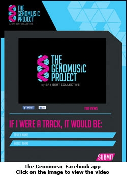 The Genomusic Facebook app