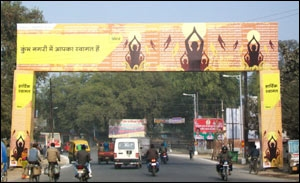 New OOH campaign by Idea at Kumbh Mela