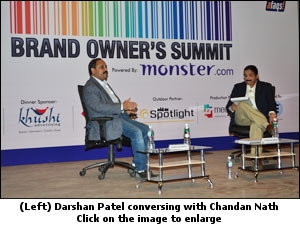 Darshan Patel conversing with Mudra's Chandan Nath