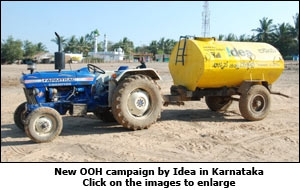 New OOH campaign by Idea in Karnataka