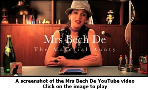 A screenshot of the Mrs Bech De YouTube video