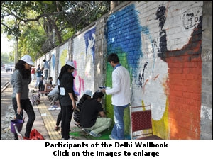 Participants of the Delhi Wallbook