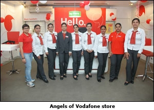 Angels of Vodafone store