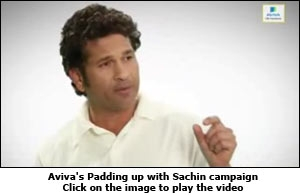 Aviva's Padding up with Sachin campaign