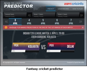 Fantasy cricket predictor