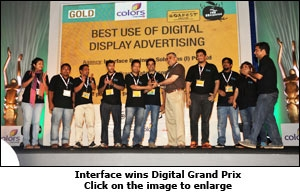 Interface wins Digital Grand Prix