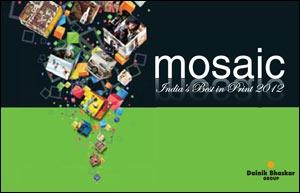 Dainik bhaskar 39 s mosaic launched at goafest for Dainik table