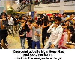 Onground activity from Sony Max and Sony Six for IPL