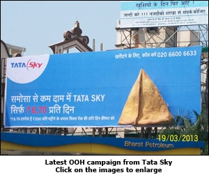 Latest OOH campaign from Tata Sky