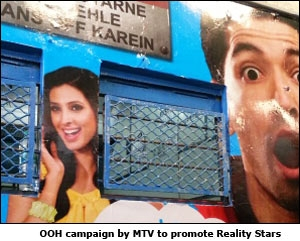 OOH campaign by MTV to promote Reality Stars