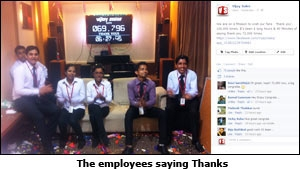 The employees saying Thanks