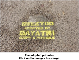 The adopted potholes