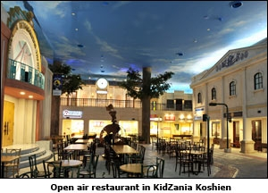 Open air restaurant in KidZania Koshien