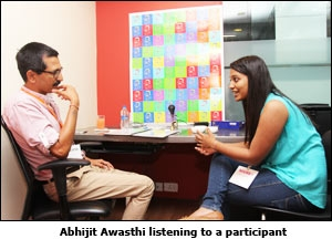 Abhijit Awasthi listening to a participant