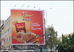 The Sunfeast Yippee Chinese Noodles hoarding