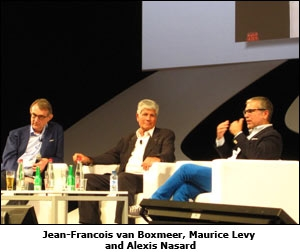 Jean-Francois van Boxmeer, Maurice Levy and Alexis Nasard