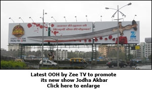 Latest OOH by Zee TV to promote its new show Jodha Akbar