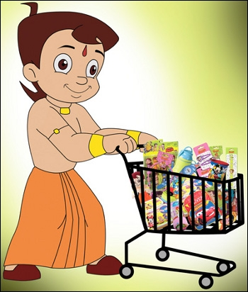 Chhota Bheem with cart