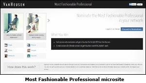Most Fashionable Professional microsite